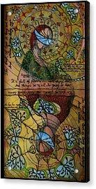 The Book Of Love - Part 1 Acrylic Print by Cornelia Tersanszki