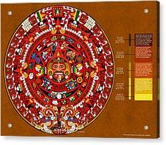 The Book Of The Sun Aztec Calendar Acrylic Print