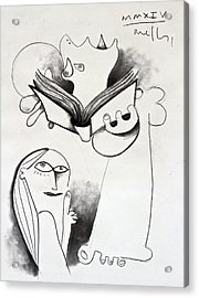 The Book Study Acrylic Print