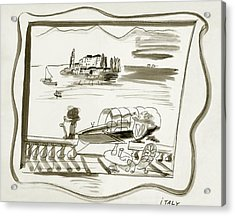 The Borromean Island On Lake Maggiore In Italy Acrylic Print by Ludwig Bemelmans