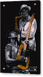 Acrylic Print featuring the painting Bruce Springsteen And Clarence Clemons by Thomas J Herring