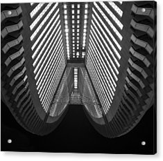 Cleavage Acrylic Print by Aaron Bedell