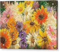 The Bouquet Acrylic Print by Sorin Apostolescu