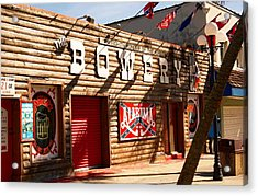 The Bowery Myrtle Beach Acrylic Print by Bob Pardue