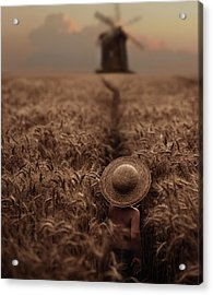 The Boy In The Field Acrylic Print