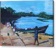 The Boy Porter  Sierra Leone Acrylic Print by Mudiama Kammoh