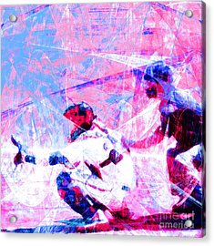 The Boys Of Summer 5d28228 The Catcher Square V3 Acrylic Print by Wingsdomain Art and Photography