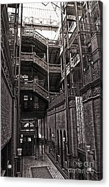 The Bradbury Building Acrylic Print by Gregory Dyer
