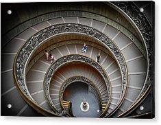 The Bramante Staircase In Vatican Acrylic Print by Dragos Cosmin Photos