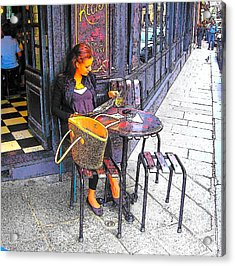 The Brasserie In Paris Acrylic Print by Jan Matson