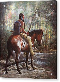 Acrylic Print featuring the painting The Brave by Harvie Brown