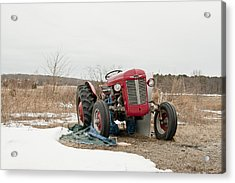 The Brave Little Tractor Acrylic Print by Eugene Bergeron