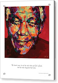 The Brave Man Acrylic Print by Salli Van Druten