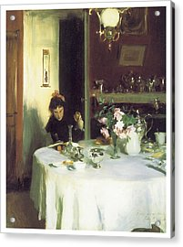 The Breakfast Table Acrylic Print by John Singer Sargent