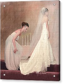 The Bride And Her Maid Of Honor Acrylic Print by Angela A Stanton