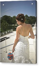 The Bride's Back Acrylic Print by Mike Hope
