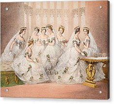 The Bridesmaids, 10th March, 1863 - Marriage Of Edward Vii And Alexandra Of Denmark Acrylic Print