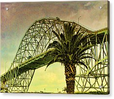 The Bridge As The Sun Breaks Through Acrylic Print by Wendy J St Christopher