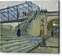 The Bridge At Trinquetaille Acrylic Print by Vincent van Gogh