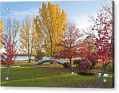 The Bridge In Autumn Acrylic Print