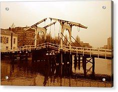 The Bridge Acrylic Print by Menachem Ganon
