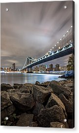 Acrylic Print featuring the photograph The Bridge Of 2 Cities by Anthony Fields