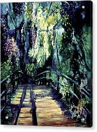 The Bridge Acrylic Print by Shari Silvey