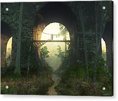 The Bridge Under The Bridge Acrylic Print by Cynthia Decker