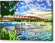 Acrylic Print featuring the photograph The Bridge by Yew Kwang