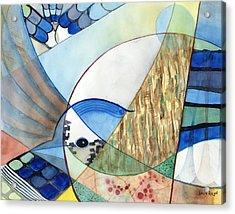 The Brilliant Blue Jay Acrylic Print