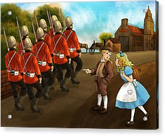 The British Soldiers Acrylic Print by Reynold Jay