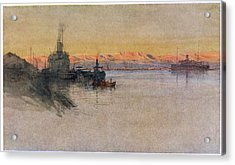 The British Transport Ships  'erma' Acrylic Print by Mary Evans Picture Library