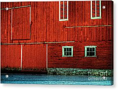 The Broad Side Of A Barn Acrylic Print by Lois Bryan