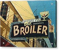 The Broiler On J Street Acrylic Print by Paul Guyer