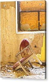 The Broken Chair Acrylic Print by Carolyn Fox