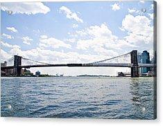 The Brooklyn Bridge And East River Acrylic Print