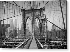 The Brooklyn Bridge Before Nine Eleven Acrylic Print by Steven Spak