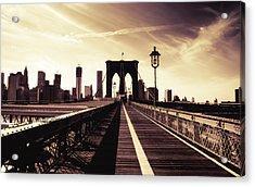 The Brooklyn Bridge - New York City Acrylic Print by Vivienne Gucwa