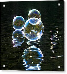 The Bubble Worlds Acrylic Print by Terry Cosgrave
