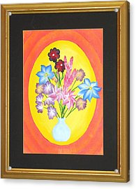Acrylic Print featuring the painting The Bud Vase by Ron Davidson