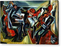 The Budapest String Quartet Acrylic Print by Pg Reproductions