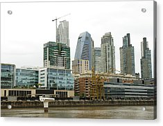 The Buenos Aires Central Business District Acrylic Print by Jens Kuhfs