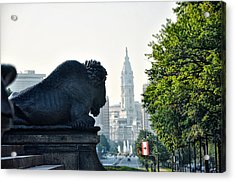 The Buffalo Statue On The Parkway Acrylic Print