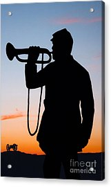 The Bugler Acrylic Print by Karen Lee Ensley