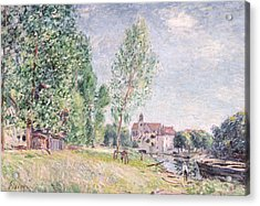 The Builder's Yard At Matrat Moret-sur-loing Acrylic Print by Alfred Sisley