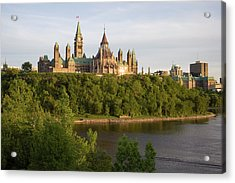 The Buildings Of Parliament Hill, Along Acrylic Print