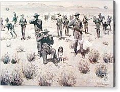 The Bullets Kicked Up Dust Acrylic Print by Pg Reproductions