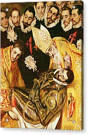 The Burial Of Count Orgaz Acrylic Print