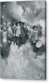 The Burning Of Jamestown, 1676, Illustration From Colonies And Nation By Woodrow Wilson, Pub Acrylic Print by Howard Pyle