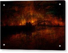 The Burning Of Sydney Acrylic Print by Kim Gauge